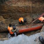 Авария на водопроводе. Фото: ura.news