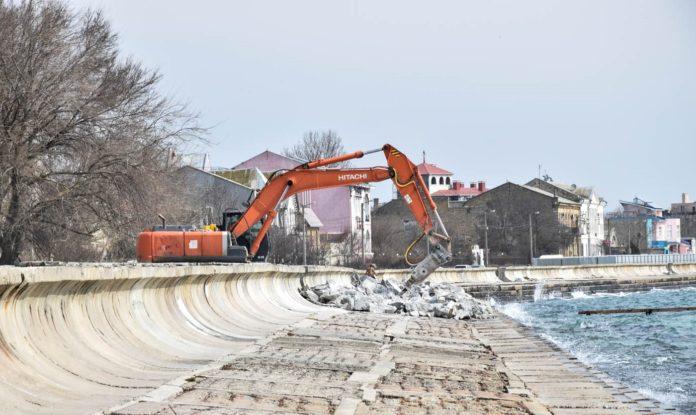 Евпатория, реконструкция набережной