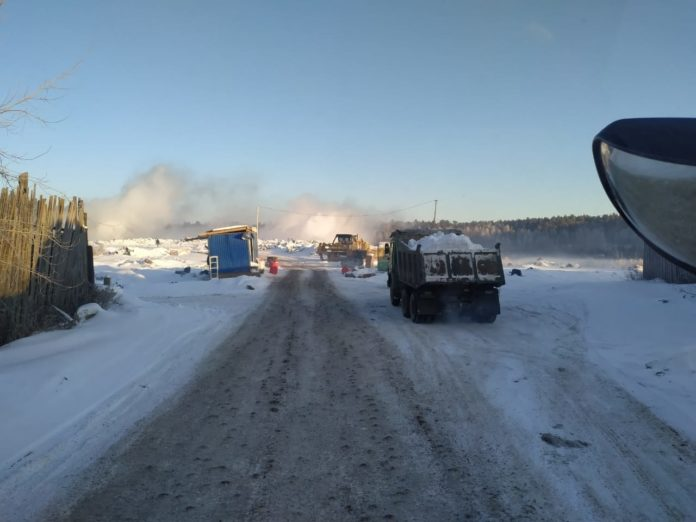 Тление на мусорном полигоне. Фото: 66.mchs.gov.ru