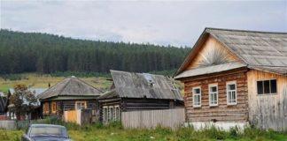деревня, автомобиль, деревенский дом